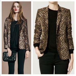 Zara Jacket blazer leopard print size S